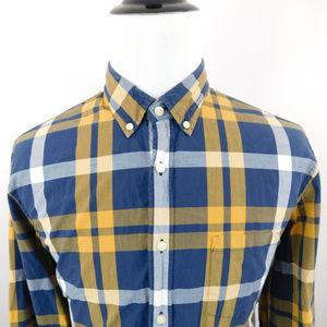 J. Crew Summer Plaid L/S Button Down Dress Shirt